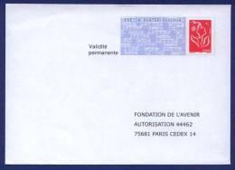 PAP Réponse Neuf. Fondation De L'Avenir. Autorisation 44462. Validité Permanente. Dos 06 P 062. - Listos Para Enviar: Respuesta/Lamouche