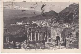 Italie Taormina Veduta DellEtna Dal Teatro Gréco - Italia