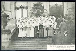 CPA.. M. R. POINCARÉ à Limoges. 8 Et 9 Septembre 1913. Le Choeur Des Barbichets. - Limoges