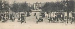 RARE PANORAMA DEBUT 1900 : LYON LA PLACE CARNOT TRES ANIMEE TRAMWAY TACOT ATTELAGE 69002 (28 X 11 CM) - Lyon