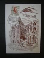 1977/78 - Cartolina Con Affrancature E Annullo 13-7-1978 Arena Di Verona - 6. 1946-.. Repubblica