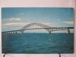 Carte Très Peu Courante - Etats Unis - Captree State Parkway Bridge - Scan Recto-verso - Long Island