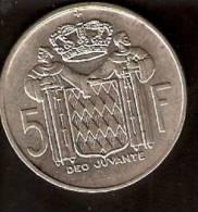 MONEDA DE PLATA DE MONACO DE 5 FRANCOS DEL AÑO 1966  (COIN) SILVER,ARGENT. - 1960-2001 Francos Nuevos