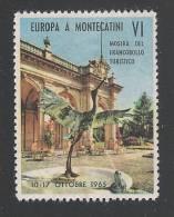 ERINNOFILIA - ITALIA - VIGNETTA DEL 1965 NUOVA S.T.L. - EUROPA A MONTECATINI - VI MOSTRA - IN OTTIME CONDIZIONI. - Erinnofilia