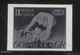 POLAND 1956 9TH CYCLING PEACE RACE 60g BLACK PRINT NHM Bikes Bicycles Sports Tour De Pologne - Varietà E Curiosità