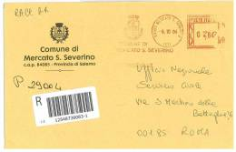 MERCATO SAN SEVERINO  84085  PROV. SALERNO  - ANNO 2004 -  AMR R  - TEMATICA COMUNI D´ITALIA - STORIA POSTALE - Affrancature Meccaniche Rosse (EMA)