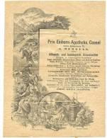 Privileg. EINHORN-Apotheke Cassel G.Mergell Allopath. Und Homöopath. Arzneimittel Reklamebrief?  ILLUSTRIERT Gnome 1917 - Germania