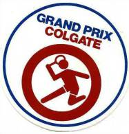 AUTOCOLLANT STICKERS SPORT GRAND PRIX COLGATE TENNIS - Autocollants