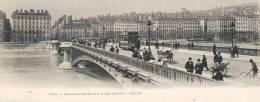 RARE PANORAMA DEBUT 1900 : LYON LE PONT MORAND AVEC TRAMWAY 69006 (28 X 11 CM) - Lyon 6