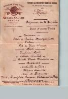 Menu Du 25 Décembre - ARMAND NAULOT Taverne Des Brasseries Dumesnil Frères - Beaune - Menus