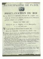 Cp, Histoire, Les Murailles De La Révolution Française - 07 - Proclamation Du Roi - History