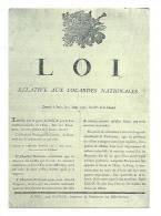 Cp, Histoire, Les Murailles De La Révolution Française - 14 - Loi Relative Aux Cocardes Nationales - History