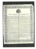 Cp, Histoire, Les Murailles De La Révolution Française - 16 - Testament De Louis XVI - History