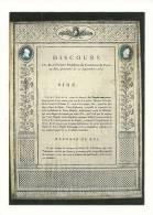 Cp, Histoire, Les Murailles De La Révolution Française - 03 - DIscours Du Président Du Parlement De Paris Au Roi - History