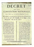 Cp, Histoire, Les Murailles De La Révolution Française - 21, Décret De La Convention Nationale - History