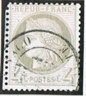 Timbre De France No 52   Oblitéré «Monaco Principauté»  Signé  Calves - Monaco