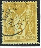 Timbre De France Sage 3 Cent No 86  Oblitéré «Monaco Principauté»  Signé Calves - Monaco