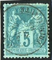 Timbre De France Sage 5 Cent Type 1,  No 64  Oblitéré «Monaco Principauté» - Monaco