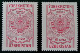ARMOIRIES 1995 - NEUFS ** - YT 61Y/61Z - MI 58/59 - Uzbekistan
