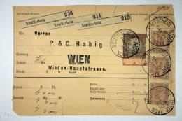 Austria, Post Ausgabe Vignette 1892, Wien - Neutitschein