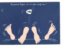 Doucement Eugène, On N'a Plus Vingt Ans.  Signée AC Ou AL - Humour