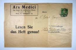 Austria, Privat Ausgabe  Zeitungsadress Zettel  Mit Wertzeichen, Arts Medici, Zu Holland Den Haag