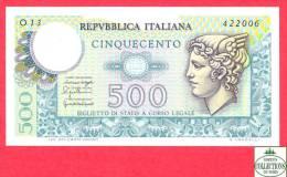 Italy - Italia -  500 Lire - AU - Banknote - 1976 / Papier Monnaie Italie - Billet - [ 2] 1946-… : République