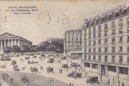 75 - Paris - Hôtel Richepanse, Rue Richepanse (animée, Voitures, Illustration) - Bar, Alberghi, Ristoranti