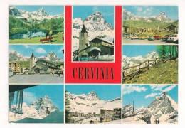 CERVINIA BREUIL VEDUTINE CARTOLINA FORMATO GRANDE VIAGGIATA - Italia