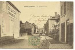 SAINTE-MENEHOULD - LA RUE CHANTRAINE  ( Animées - DIARD & FILS CARROSSERIE ) - Sainte-Menehould