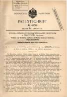 Original Patentschrift - Svenska Stalpressing AG In Olofström , Schweden , 1905 , Herstellung Von Nahtlosen Blechhülsen - Historische Dokumente