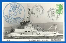 83800 Toulon Secteur Marine (3055) BSR CHEVREUIL - 26 01 1988 - Marcophilie (Lettres)