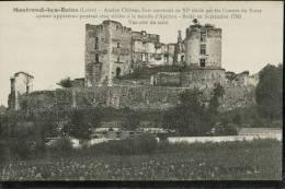 Cpa Montrond.les.Bains (Loire) .Ancien Chateau Fort Construit Au XIe Siècle Par Les Comtes Du Forez - France