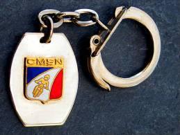 Ancien Et Rare Porte-clé Chromé émaillé : CMSN Club Moto De La Sureté Nationale - Polizei