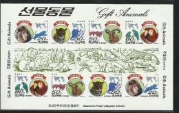 DPR KOREA ~ 1997 Animals  M/S  (IMPERF) - Non Classificati