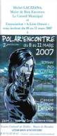 Programme ESPE Salon Du Polar Bon-Encontre 2007 (Château Bordeaux..) - Unclassified