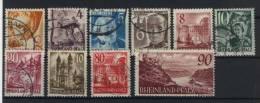 Rheinland Pfalz Michel No. 32 - 41 Gestempelt Used - Französische Zone
