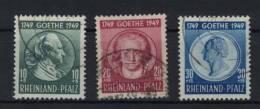 Rheinland Pfalz Michel No. 46 - 48 gestempelt used / No. 47 defekt