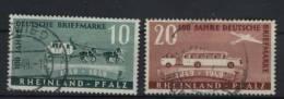 Rheinland Pfalz Michel No. 49 - 50 II gestempelt used