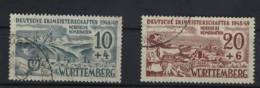 W�rttemberg Michel No. 38 x , 39 y gestempelt used