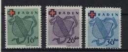 Baden Michel No. 39 - 41 A ** postfrisch