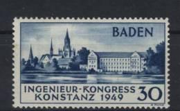Baden Michel No. 46 II ** postfrisch / gepr�ft BPP signature - etwas h�her, minimal gelbfleckig