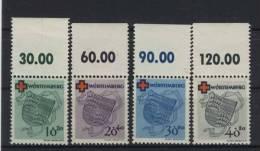 W�rttemberg Michel No. 40 - 43 A ** postfrisch Oberrand