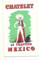 """Programme Du """"Chanteur De Mexico"""" Au Théatre Du Chatelet  - Spectacle, Opérette, Artiste - Luis MARIANO (photo) ( F6) - Programs"""