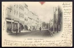 CPA  PRECURSEUR- FRANCE- BÉZIERS (34)- AVENUE DE PEZENAS EN 1900- BELLE ANIMATION- COMMERCES - Beziers