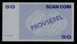 "Test Note ""SCANCOIN"" Testnote, 50 Units, RRRRR, UNC, Provsedel 130 X 72 Mm, Type B - Sweden"