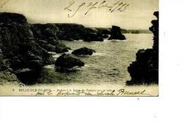 56 BELLE ISLE EN MER ROCHER POINTE DES POULAINS SPHYNX N ° 9 EN 1913 - Belle Ile En Mer