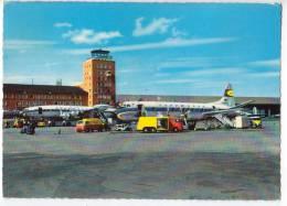 TRANSPORT AVIATION AERODROMES MUNCHEN RIEM OLD POSTCARD 1961. - Aerodrome