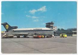 TRANSPORT AVIATION AERODROMES NURNBERG LUFTHANSA OLD POSTCARD - Aerodrome