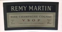 Etiquette De   Fine  Champagne Cognac  -  Remy Martin   -  16.2 X 8.7 Cm  3 L - Etichette